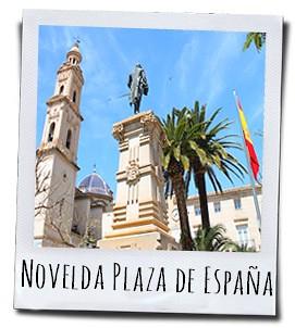 Het marktplein van Novelda, een dorp vol mooie bezienswaardigheden in het achterland van Alicante