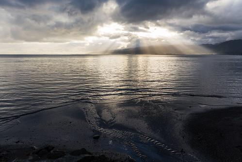 ocean sea sun mer soleil god rays tahiti pf rayons polynésiefrançaise îlesduvent