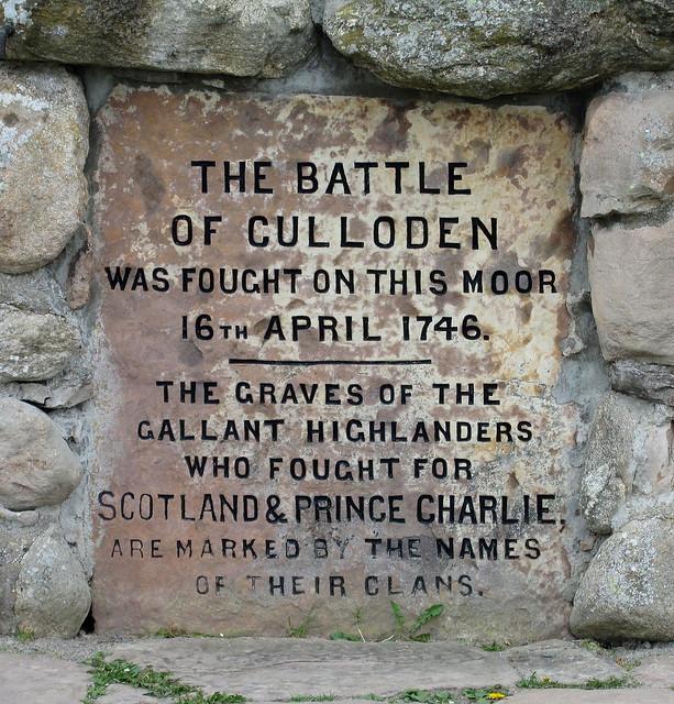 Wording on Culloden Memorial Cairn