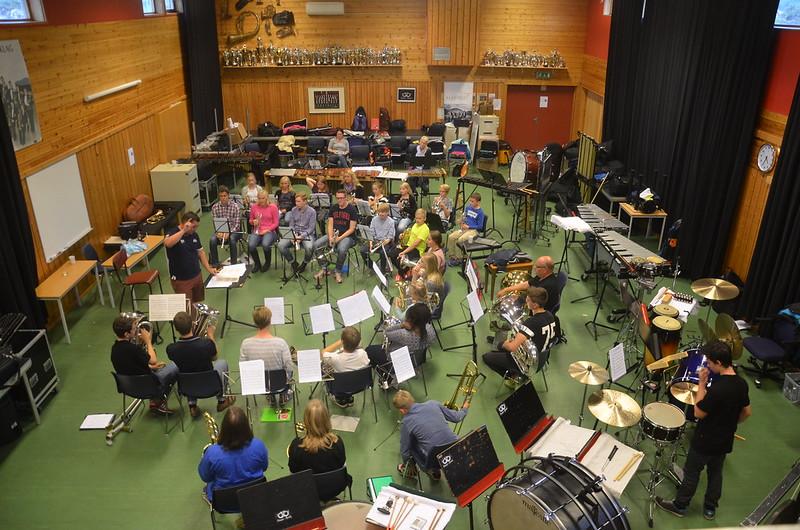 ÅYBB i Eikangers övningslokal