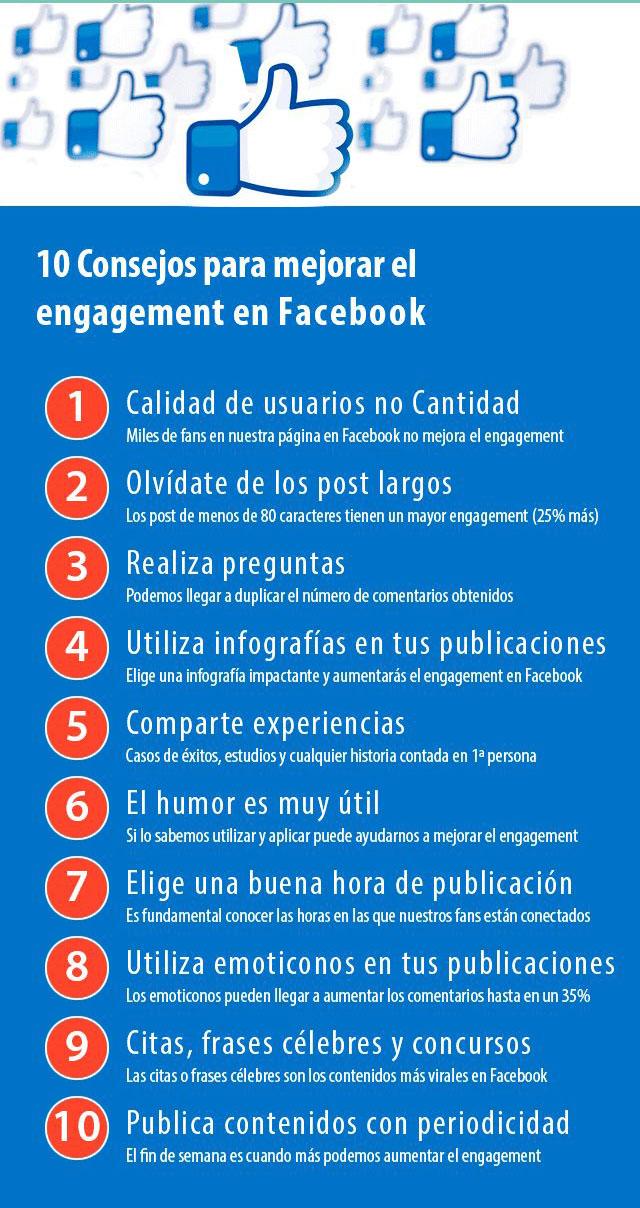 10 Consejos para mejorar el engagement en Facebook