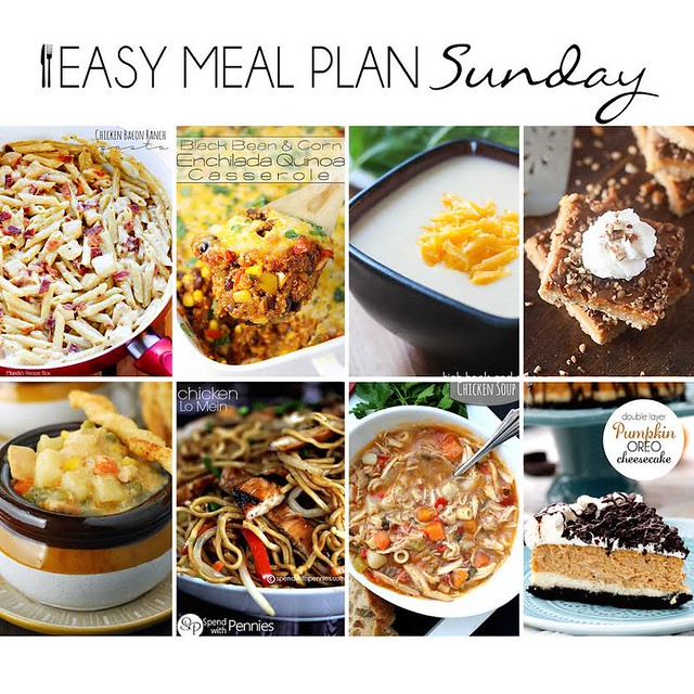 Collaborative weekly meal planning. 9 bloggers. 6 dinner ideas, one weekend breakfast plus 2 desserts every single week equals one heck of a delicious menu! Week 14.