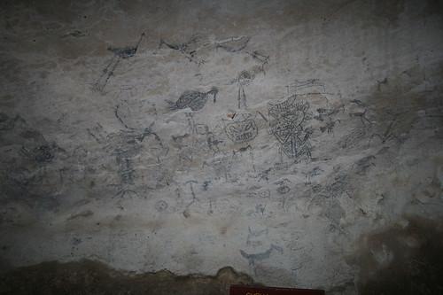 38 - Los Haitises national park - Cueva de la linea - Cave paintings / Los Haitises Nationalpark - Cueva de la linea - Höhlenmalereien