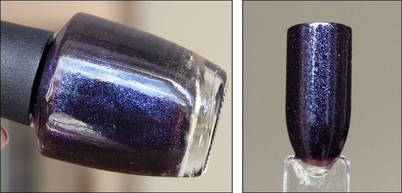 OPI cosmo with a twist swatch