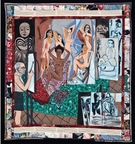 15j25 L Atelier de Picasso 1991 de Faith Ringgold 185 4 x 172 7 cm 2 Uti 425