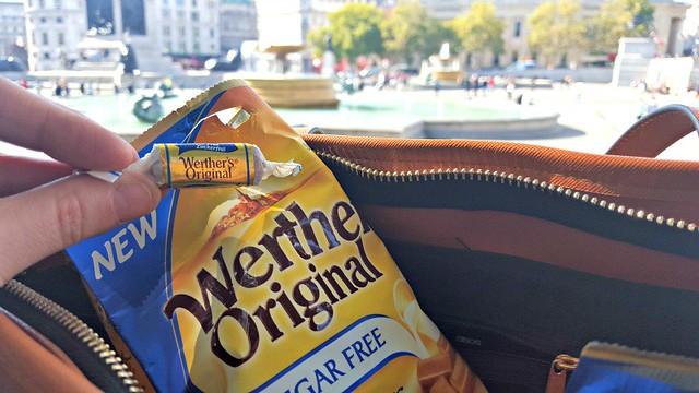 Werther's Original toffee, Trafalgar Square
