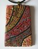 Micro Mosaic Pendant, Southwest. Mexican Hat, Utah. Unisex. Wearable Art.
