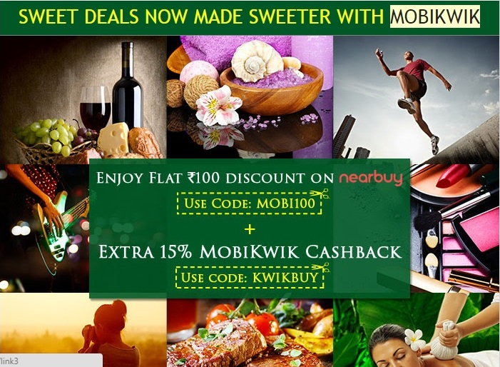 mobiwiki Groupon nearby offer flat 100 off