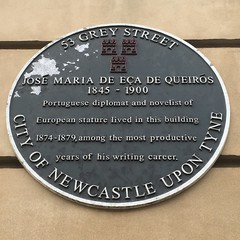 Photo of José Maria de Eça de Queirós black plaque