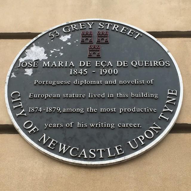 José Maria de Eça de Queirós black plaque | Open Plaques
