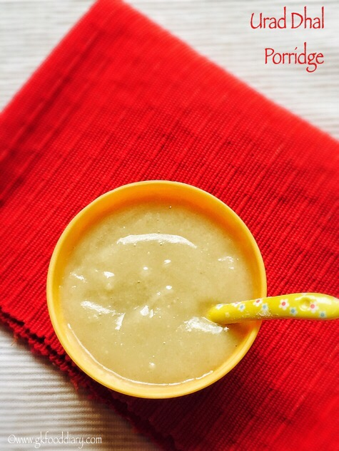 Urad Dhal Porridge for Babies, Toddlers and Kids3