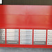 work bench red w peg board 10ft
