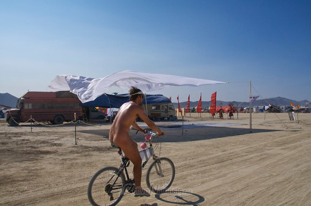 naturist 0005 Burning Man 2015, Black Rock City, Nevada, USA