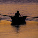 0421 - Turkmenistan, Rower On The River Amudaryo by Barry Mangham