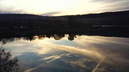 sunset delawareriver narrowsburg sullivancounty upperdelaware