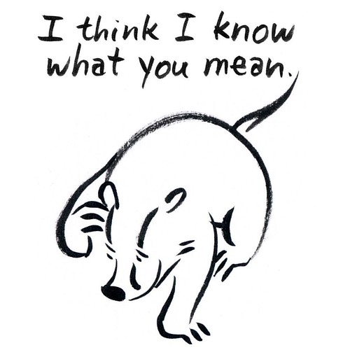 I think I know what you mean #badger #badgerlog #iknowwhatyoumean