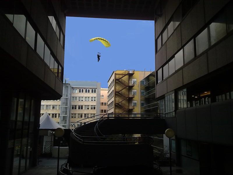 paracaidista de interior