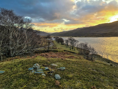 dawn sunrise sunup rhidorroch ullapool westerross rosshire highlands scotland loch achall trees mountains hills estate nature sky clouds