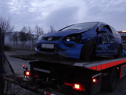 Unfall Honda / VW Polo Dresden Coschütz