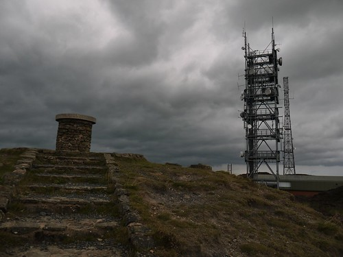 Brown Clee Hill Trigpoint and Mast