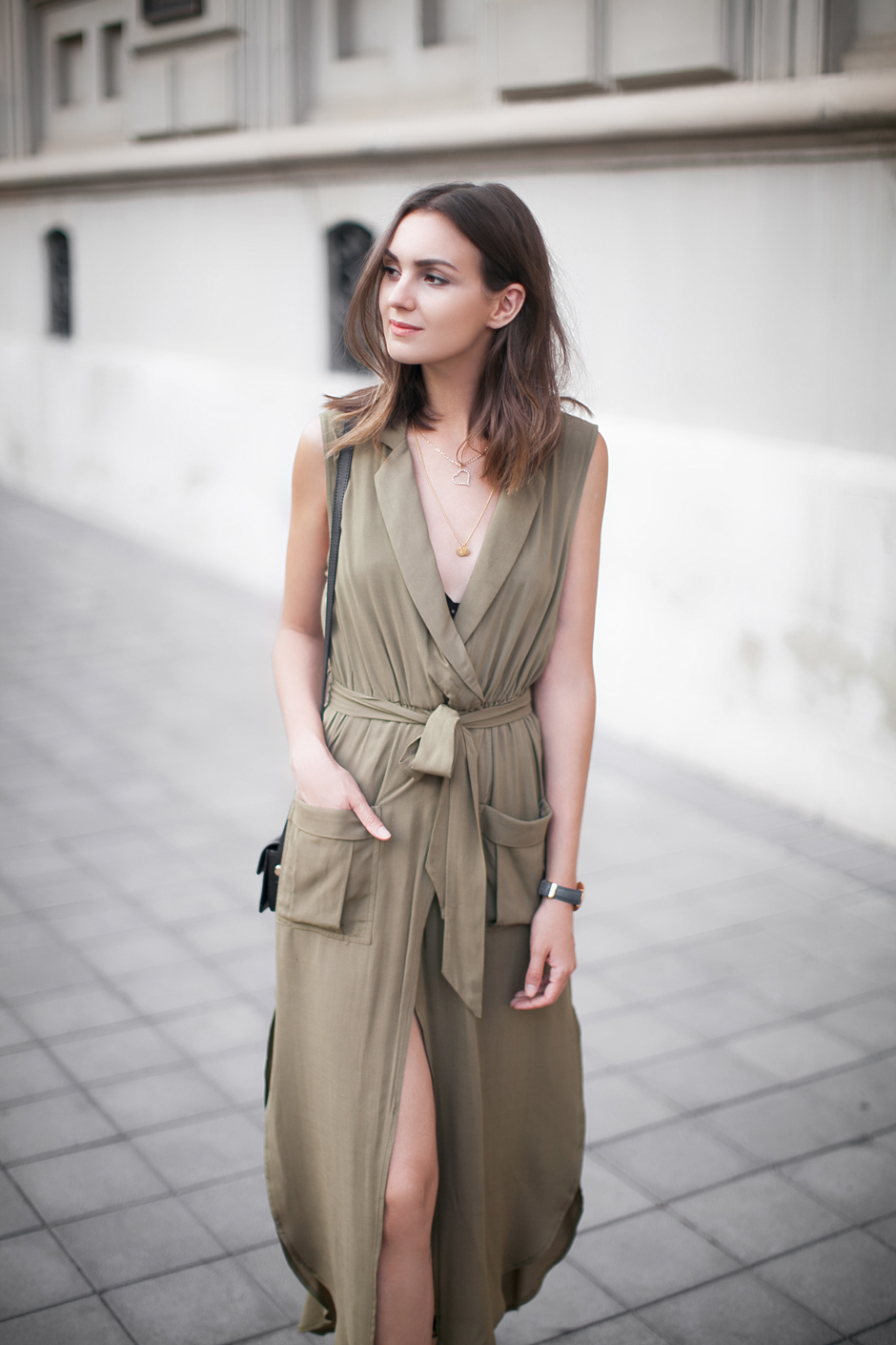 olive-green-dress-street-style-outfit-ideas
