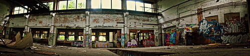 Abandoned Industry Hall Panorama