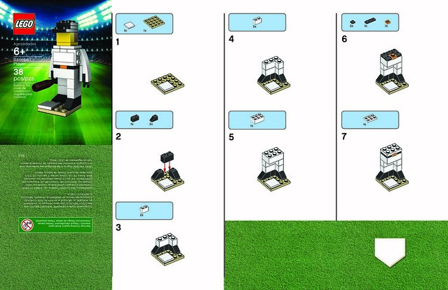 LEGO Baseball Player Instructions Part 1
