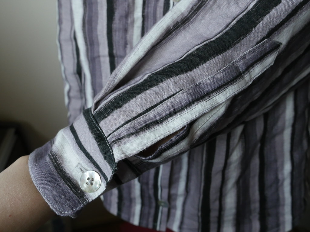Linen Aster - Cuff and Placket