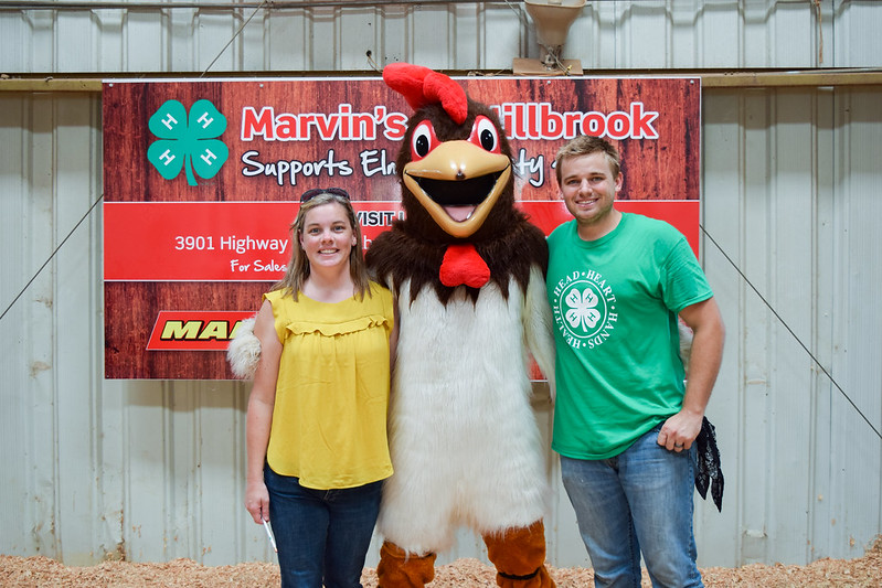 Rocko the Rooster Visits the Elmore County Chick Chain Show!