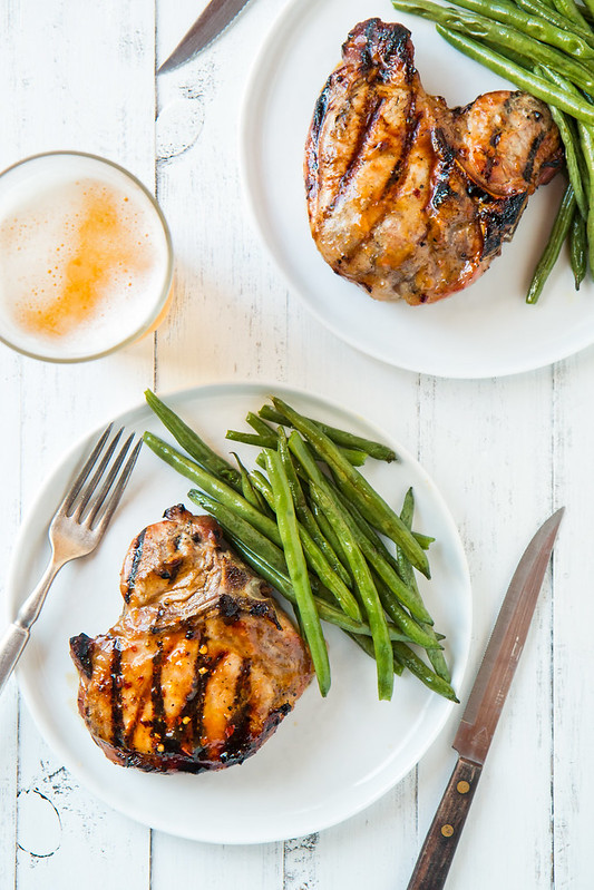Apricot Glazed Grilled Pork Chops | Will Cook For Friends