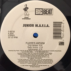 JUNIOR MAFIA:PLAYER'S ANTHEM(LABEL SIDE-A)