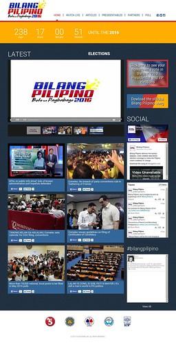 bilang pilipino website full page