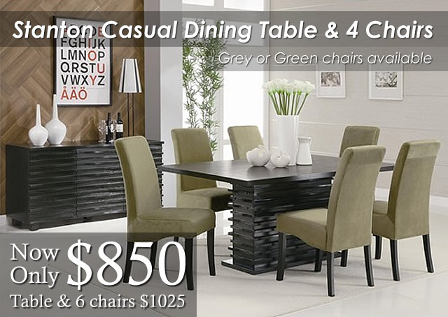 Stanton Casual Dining Table Green