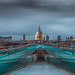 St Paul's from Millenium Bridge by Jerry Fryer