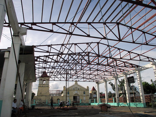 Balangiga Civic Center suffered extensive damage during Super Typhoon Yolanda