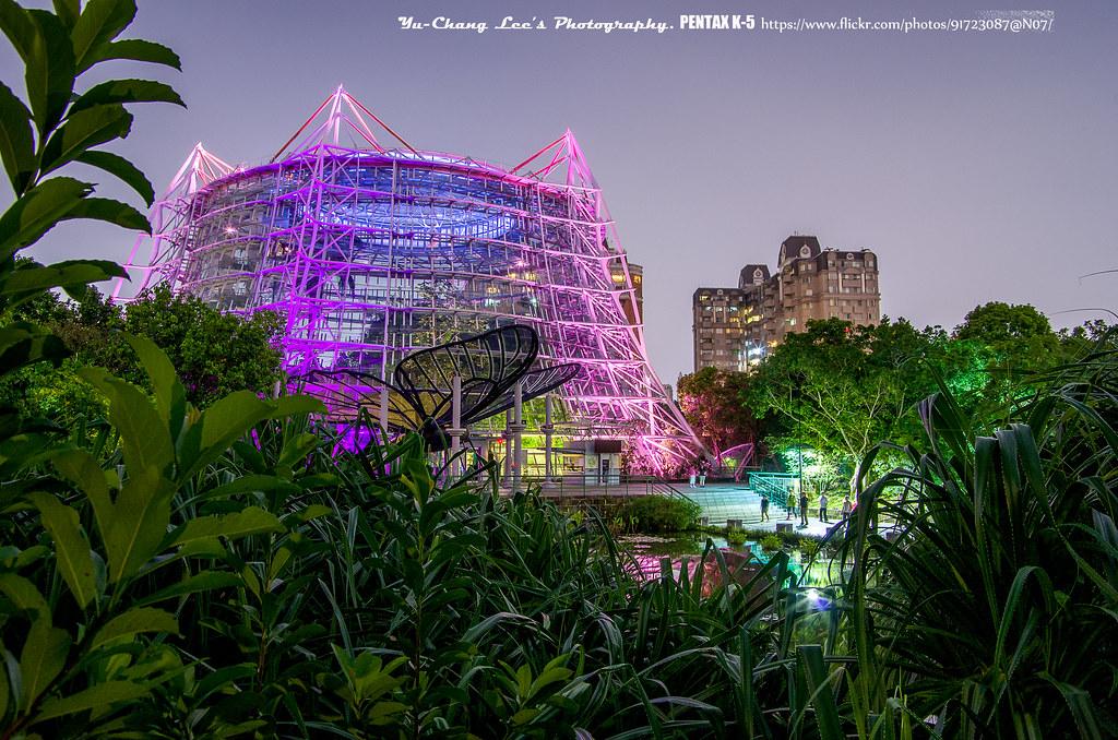 科博館植物園燈光秀夜拍