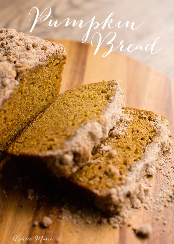not too sweet, this bread has an amazing streusel topping and an amazing pumpkin flavor and great texture