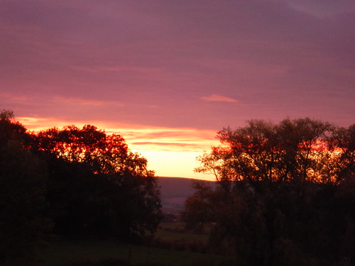 Sunset from the Trevor Arms