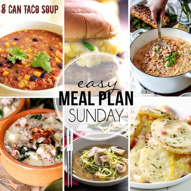 Menu Plan - week 21. Collaborative weekly meal planning. 9 bloggers. 6 dinner ideas, one weekend breakfast plus 2 desserts every single week equals one heck of a delicious menu!