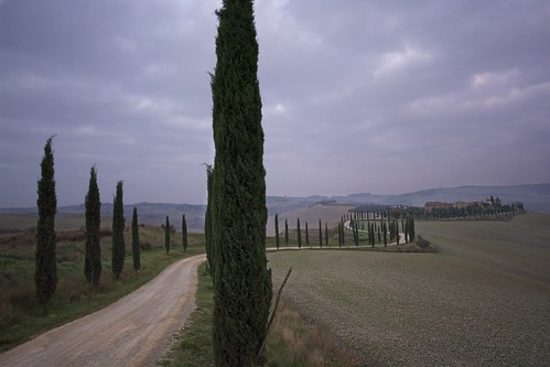 Tuscan country road. Baccoleno.