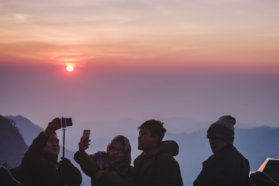 indonezja wulkan bromo wschód słonca