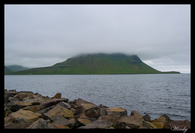 Volcán Kirkjufell en Grundarfjördur Islandia