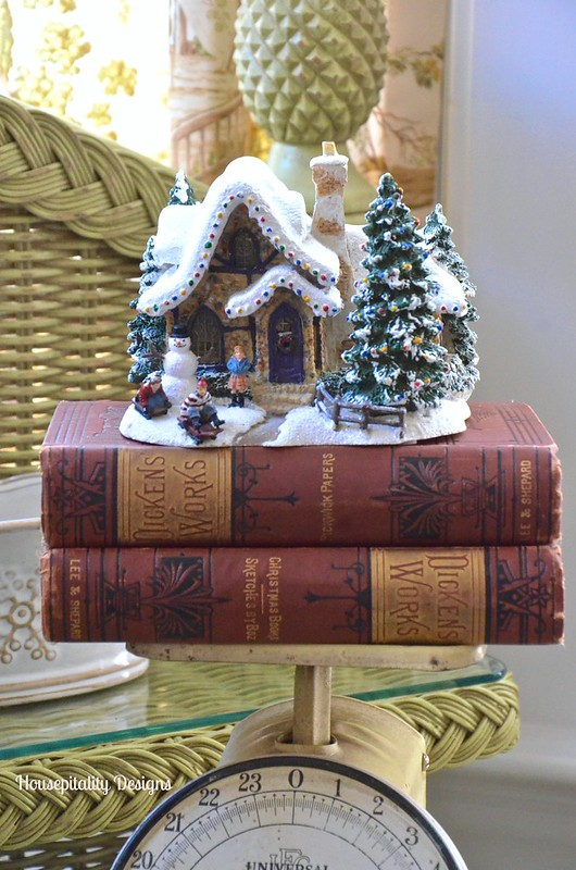 Vintage Scale with vintage Dickens books - Housepitality Designs