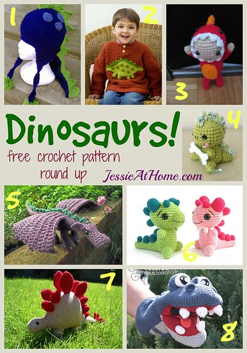 fbe17f989371 Dinosaurs Crochet Pattern Round Up