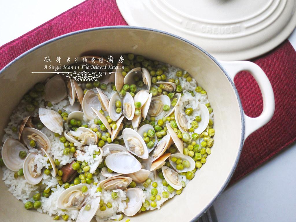 孤身廚房-海瓜子豌豆炊飯。《LE CREUSET鑄鐵鍋飯料理》試做20