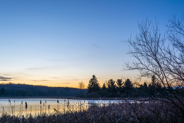 Greeting the day at Mendon Ponds