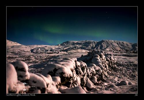 Northern Lights, Iceland,weak