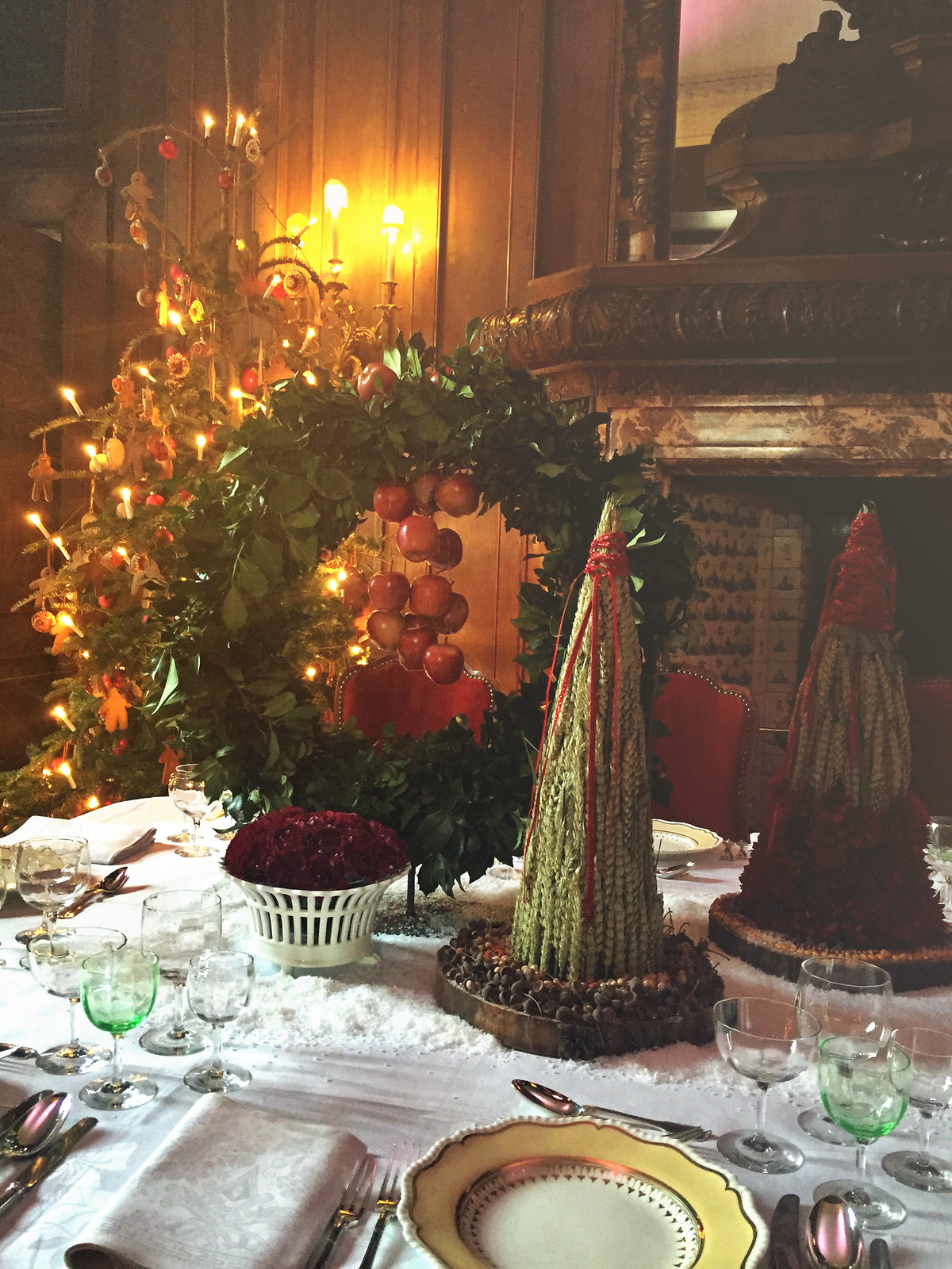 Kasteel Middachten Christmas table setting