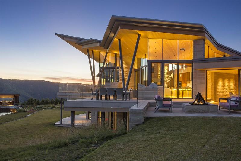 Бетонный дом в горах Колорадо