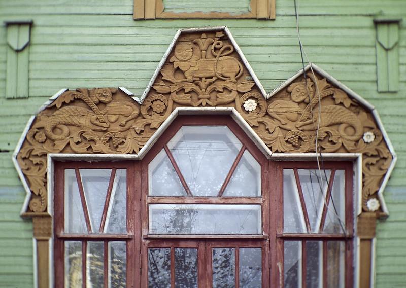 """Знаменитый """"дом с русалками"""" в Гороховце, один из лучших образцов деревянного провинциального модерна. 1915г, принадлежал купцу Пришлецову."""